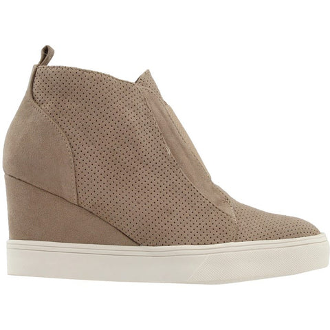 Sporty Zip Up Wedge Sneaker