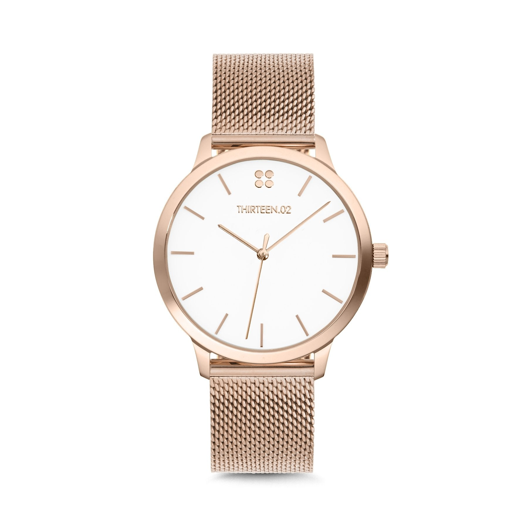 1302 38mm Rose Gold Mesh Watch