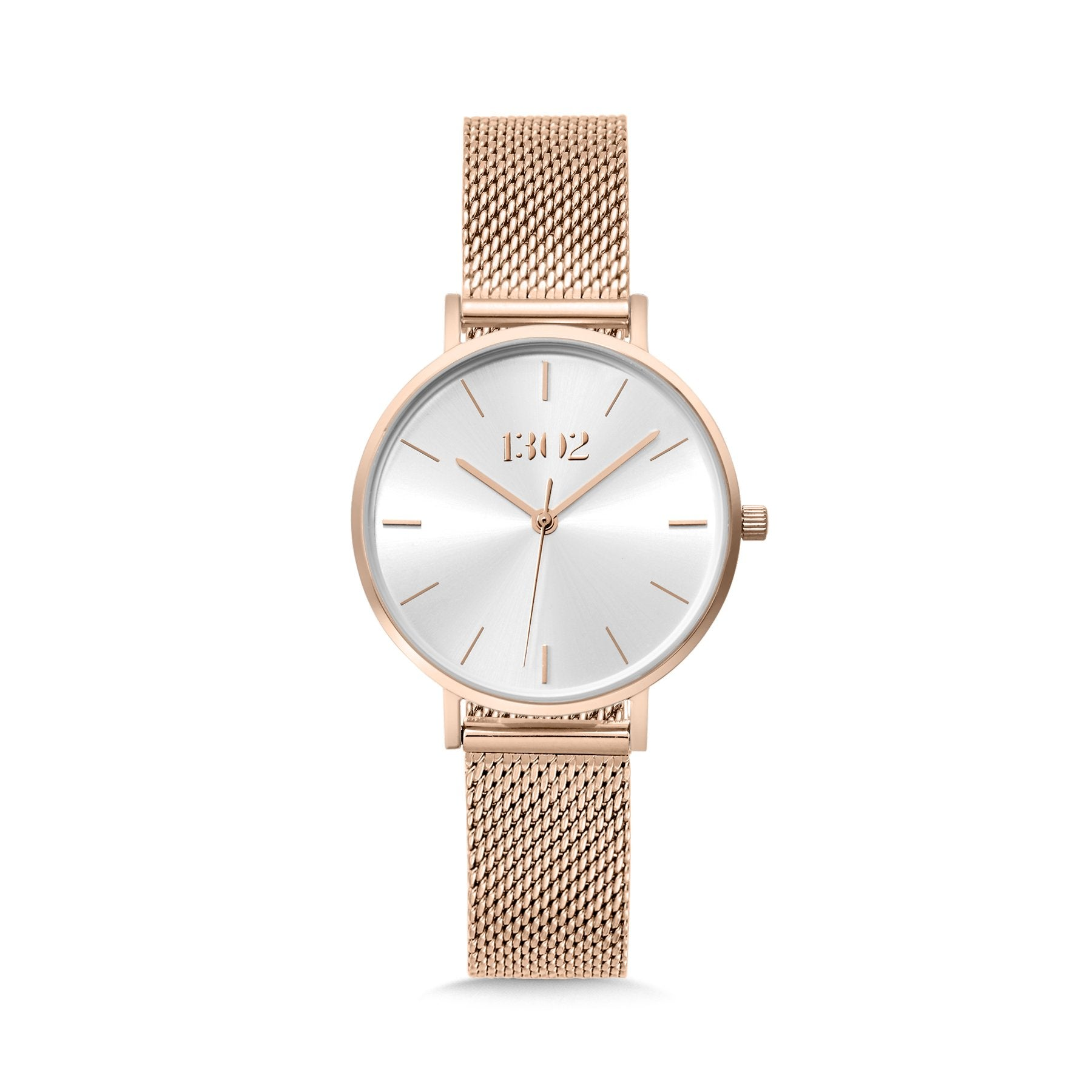 1302 32mm Rose Gold Mesh Watch