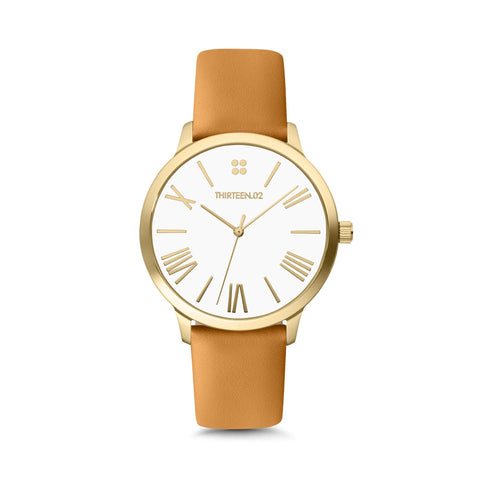 1302 38mm Tan Leather Watch