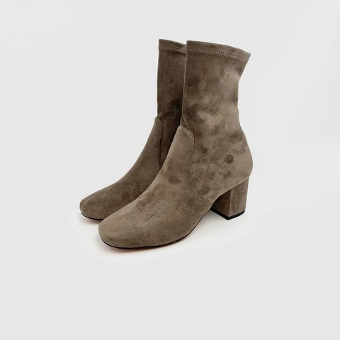 Careful Taupe Suede Bootie