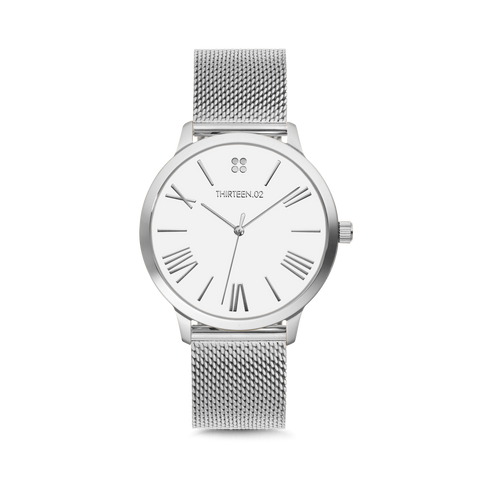1302 38mm Silver Mesh Watch
