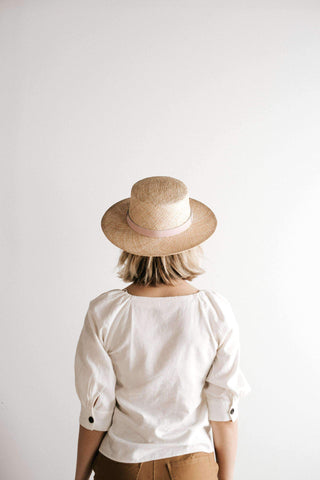 Brae Straw Boater w/ Leather Band