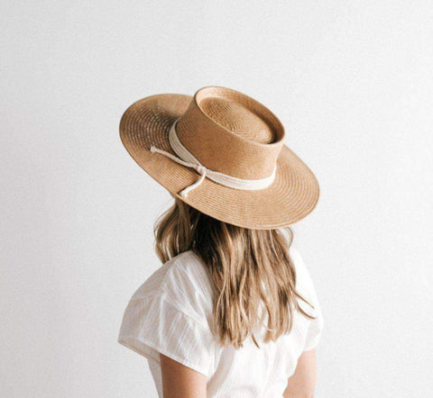 Bre Straw Pork Pie Hat