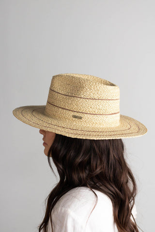 CAMILA Fedora with Stripes