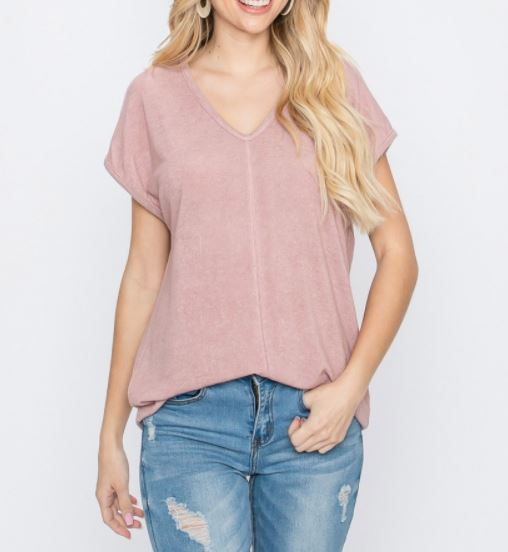 Hacci Brushed Drop Shoulder Top