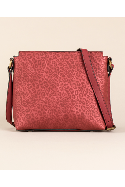 Luxe Leopard Messenger Bag