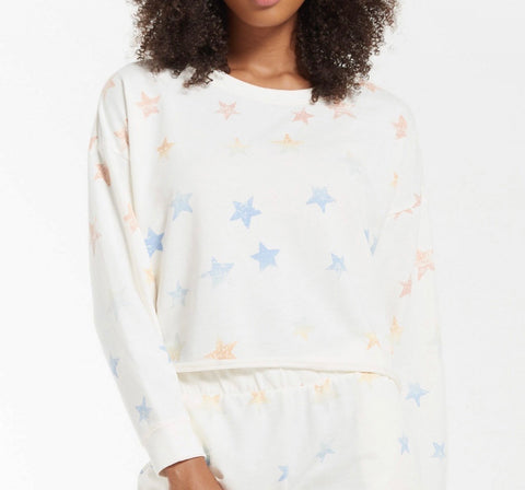 Lia Rainbow Star Sweatshirt