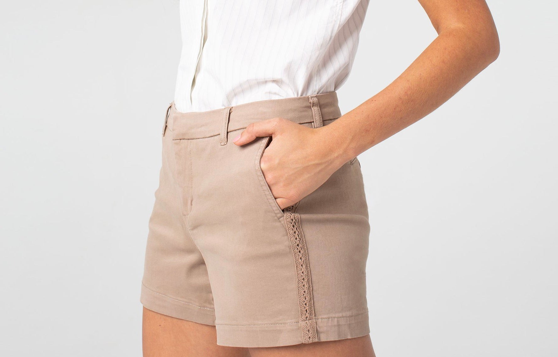 Kelsey Twill Short Slash Pocket