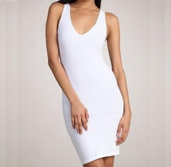 Sleeveless V-neck Tank Dress