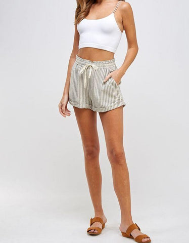 Summer Stripe Woven Shorts