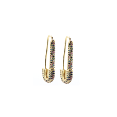 Safety Pin Statement Earrings