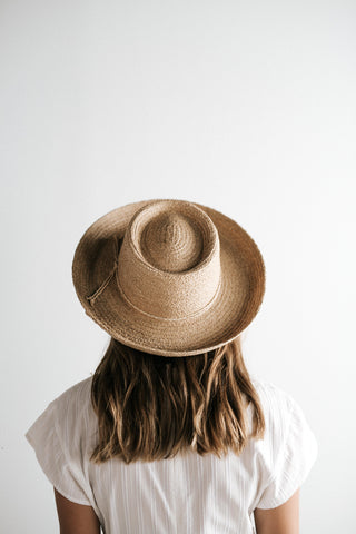 Sloan- Natural Straw Gambler Hat