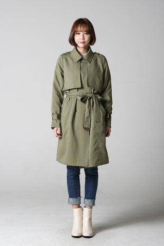 Flap Double Button Coat