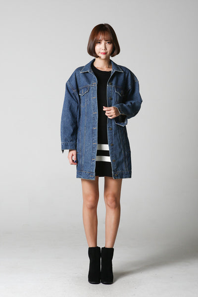 Relaxed-fit Long Denim Jacket