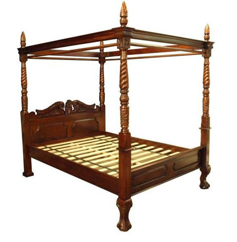 King Size - Queen Anne Four Poster Bed