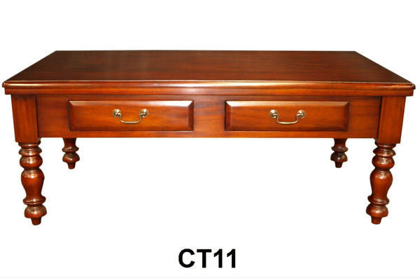 English Double Drawer Coffee Table