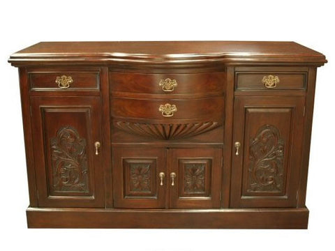Carved Leaf Design Sideboard