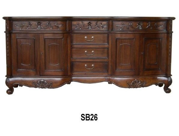 Carved English Sideboard