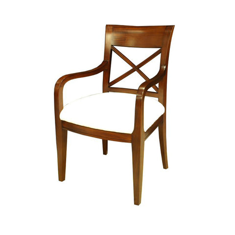 Criss Cross Back Carver Dining Chair