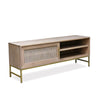 Mala timber and rattan TV unit - sliding door