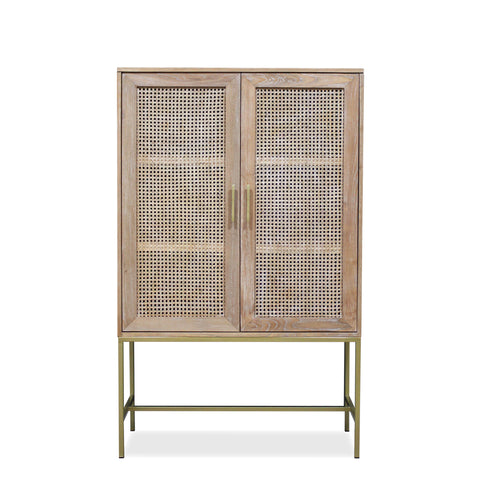 Mala timber and rattan cabinet