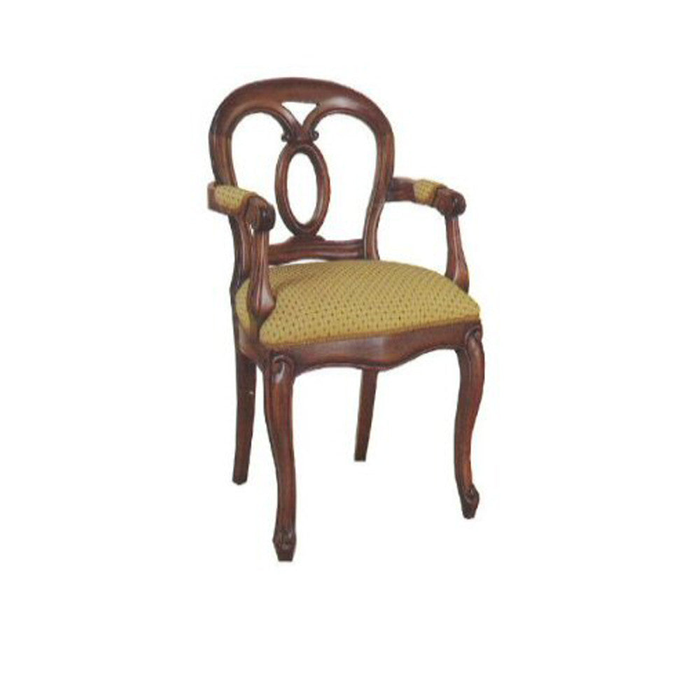 Oval Back Carver Dining Chair