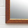 Walnut Mirror with Gold Edge