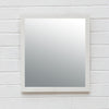 Matte White Square Profile Mirror
