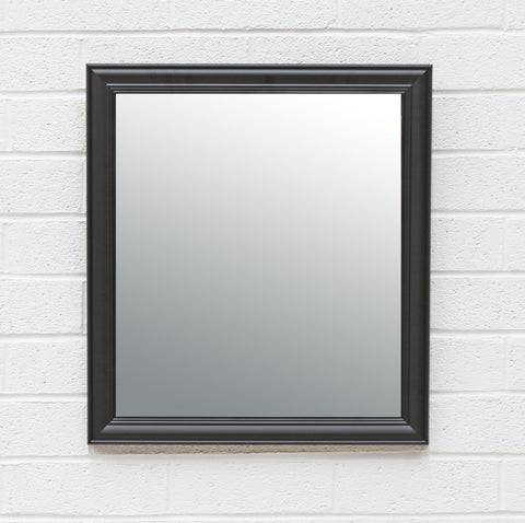 Matte Black Moulded Frame Mirror