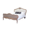 Louis Upholstered Bed Frame - Queen Size