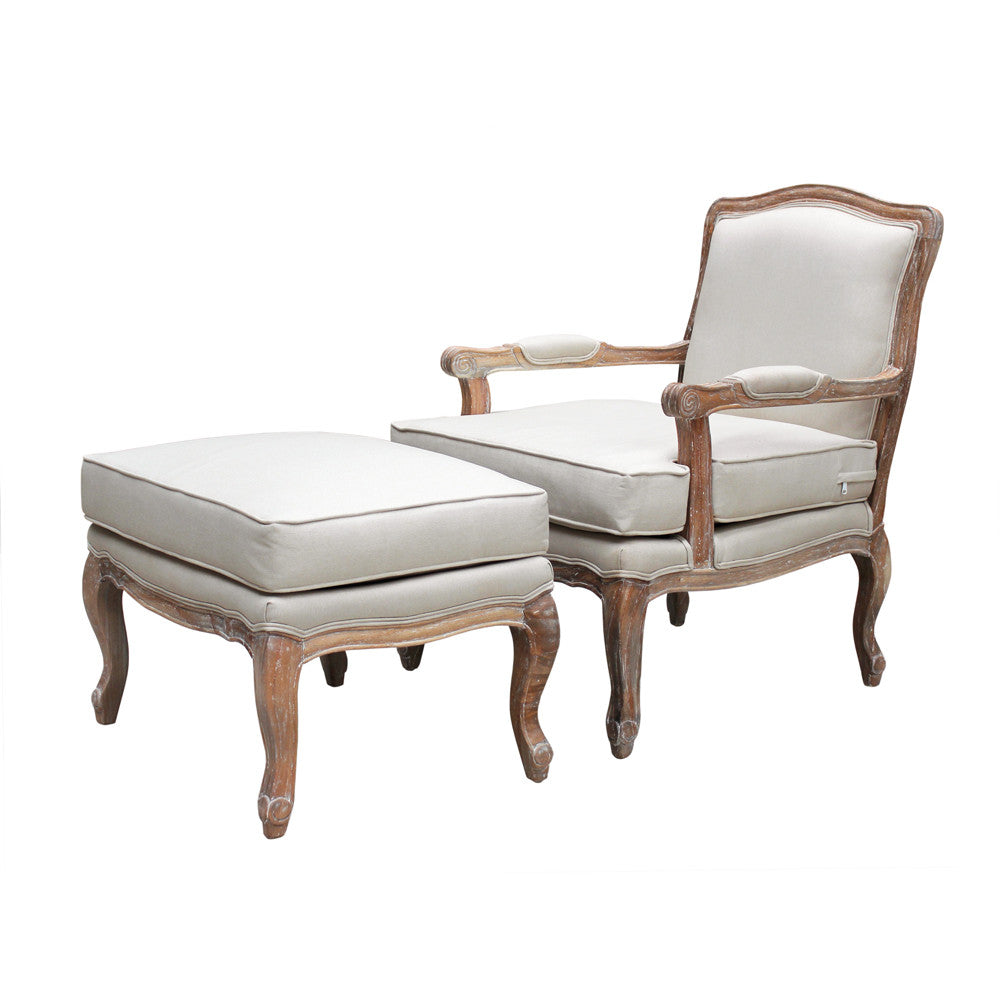 Versaille Armchair with ottoman