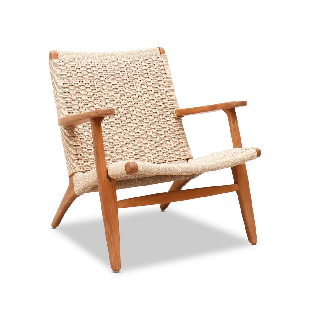 Teak and String Weave Easy Chair