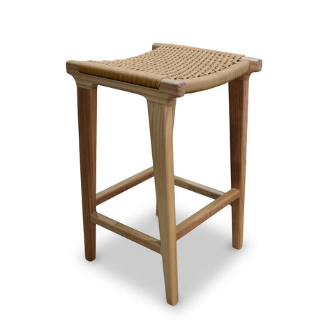 String weave timber stool