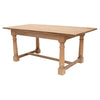Large Weathered Oak Farmhouse Dining Table