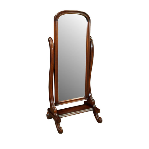 Curved Cheval Mirror
