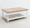 Marseille Mahogany and Rattan Coffee Table - Wholesale