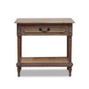 Marseille Timber and Rattan Bedside