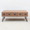 Industrial Coffee Table - with pigeon hole drawers