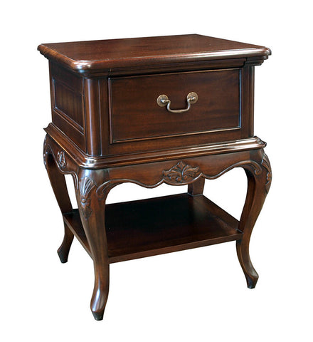 French Louis Style Single Drawer Bedside Table