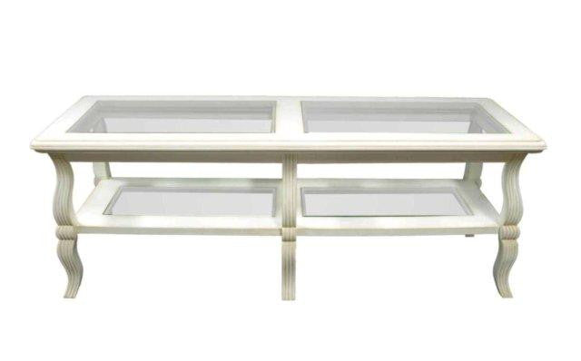 Glass Top & Shelf Coffee Table