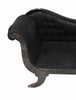 Distressed Black Serpentine Chaise Lounge