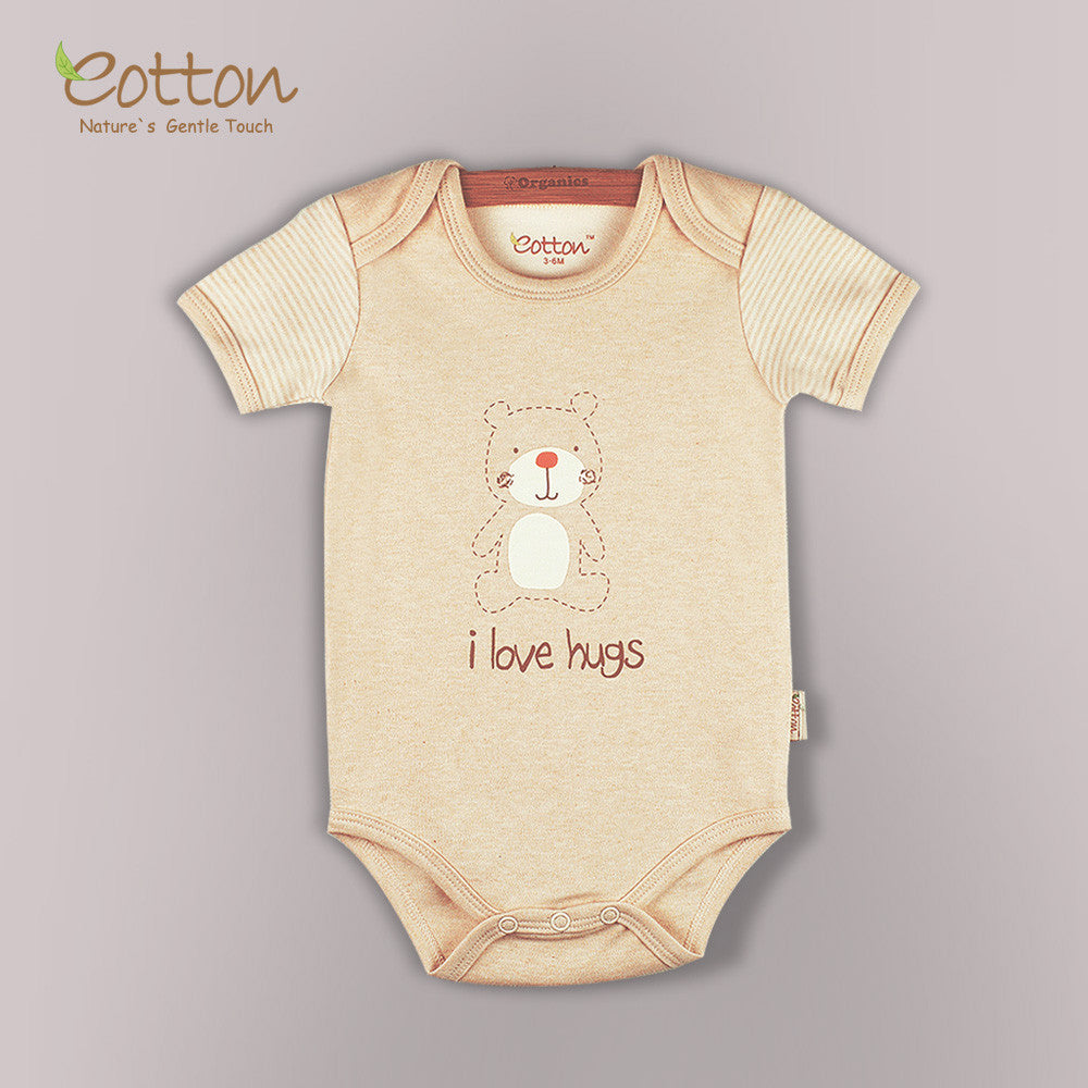 Short sleeve onesie with chest print