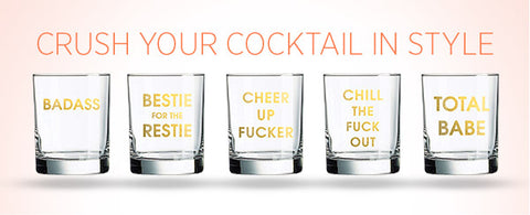 Crush your cocktail in style with our new rocks glasses.