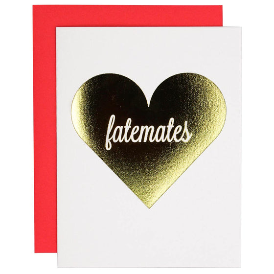 Fatemates Love Letterpress Card