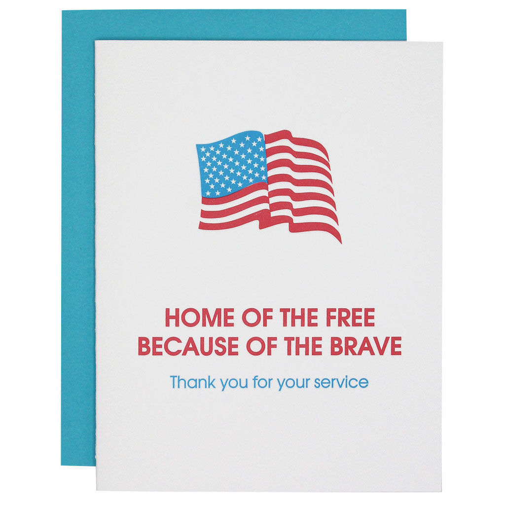 Home of the Free Paper Clip Letterpress Card