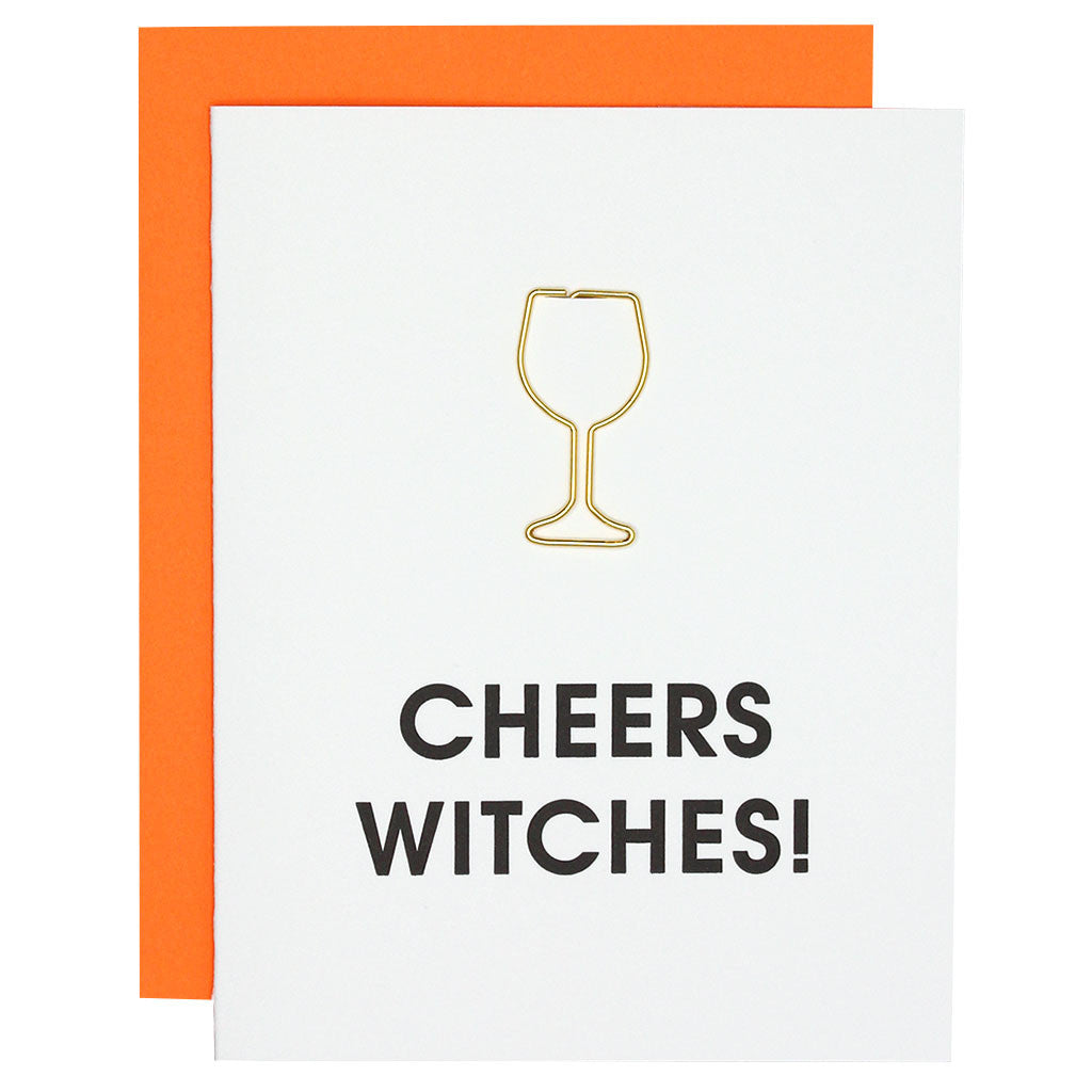 Cheers Witches Letterpress Card