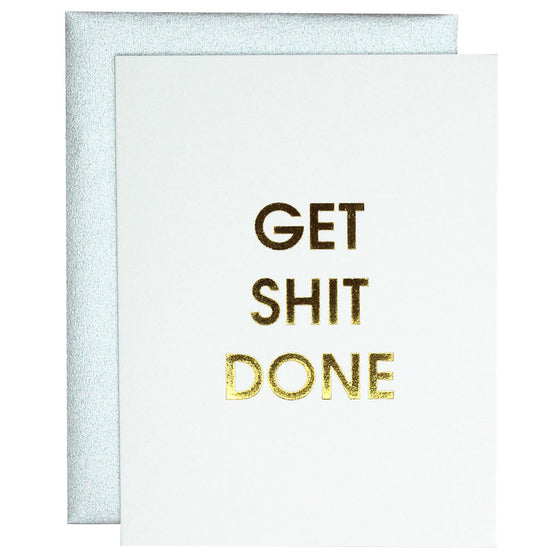 Get Shit Done Letterpress Card