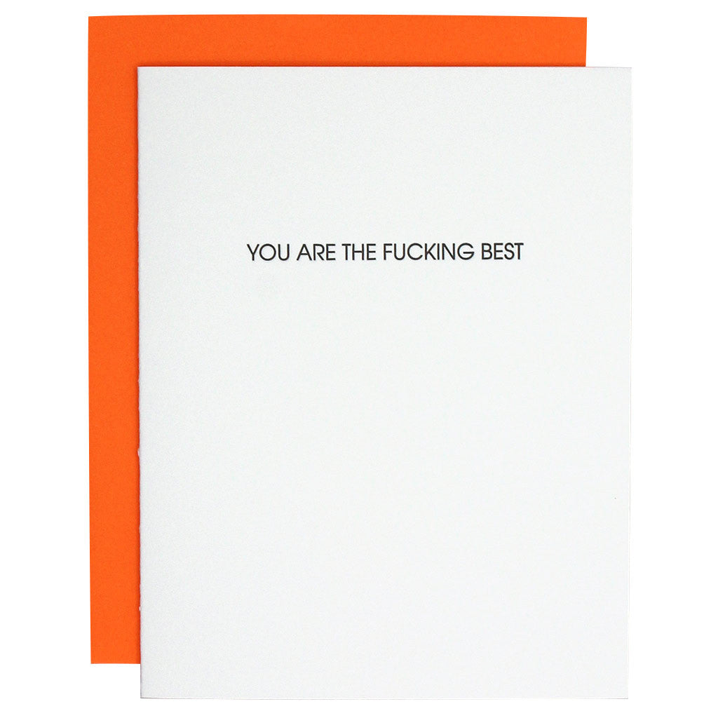 You Are the Fucking Best Letterpress Card