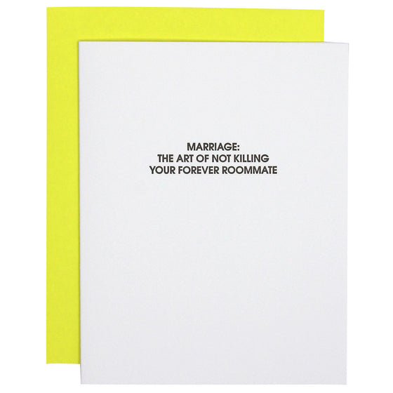 Marriage Forever Roommate Letterpress Card